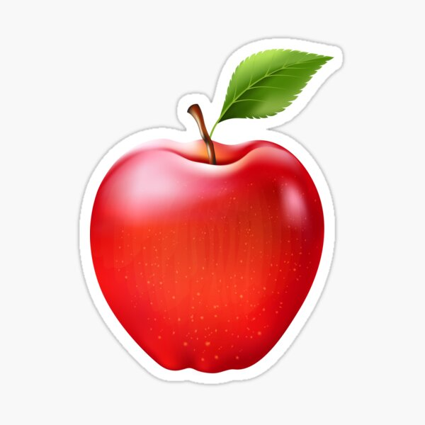 Red apple / Red apple Sticker