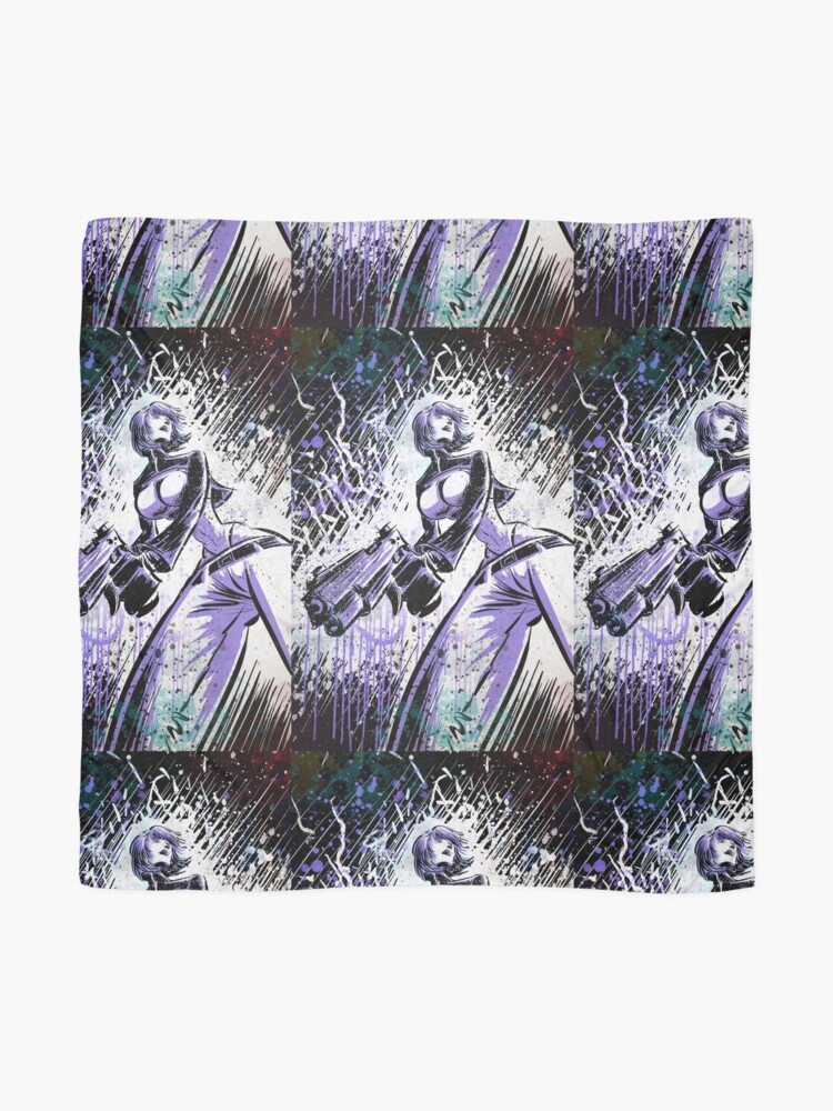 Ghost In The Shell Art Print Anime Manga Comic Book Comic Comix Cartoon Animation Japan Japanese Girl Gun Female Drawing Wall Picture Poster Joe Badon Scarf By Joebadon Redbubble