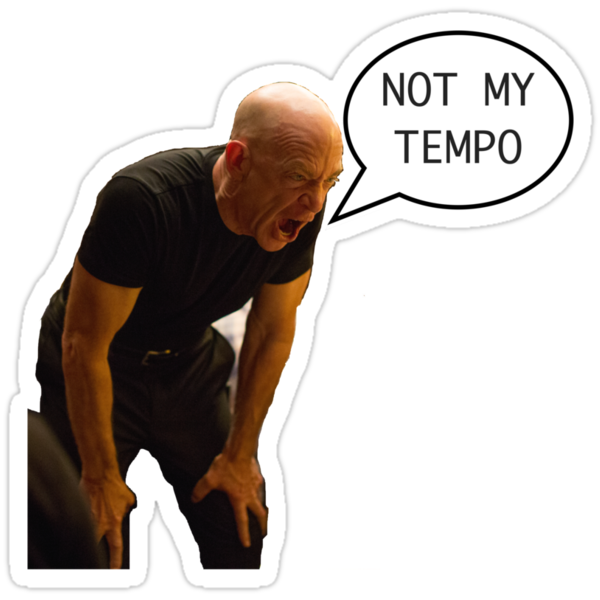 Not quite my tempo stickers by zakmacattack redbubble for Not quite my tempo shirt