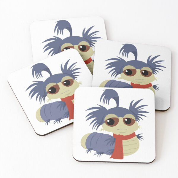 Allo! The Worm - Labyrinth Coasters (Set of 4)