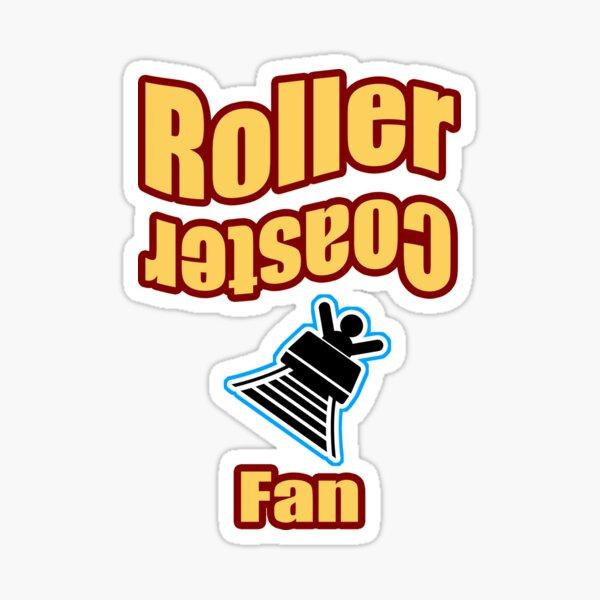 Roller Cosater Fan Sticker