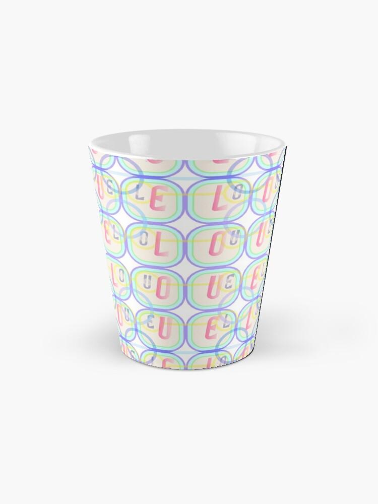 Alternate view of Love Squared Seamless Tiles Mug