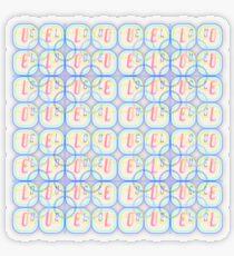 Love Squared Seamless Tiles Transparent Sticker
