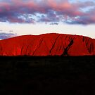 Uluru at sunset by JuliaKHarwood