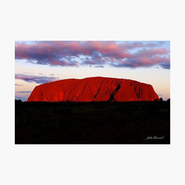 Uluru at sunset Photographic Print