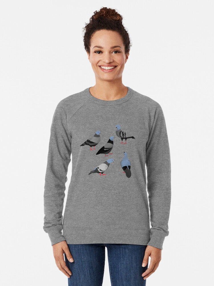 Alternate view of Design 33 - The Pigeons Lightweight Sweatshirt