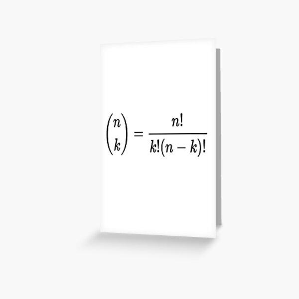 #Binomial #Coefficient, #BinomialCoefficient, #Mathematics, Theorem, Integer, Number, Math Greeting Card
