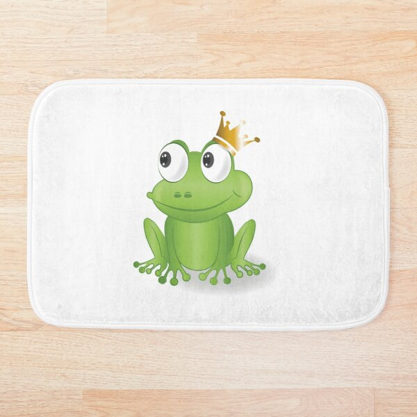 fairytale frog, frog, king Bath Mat