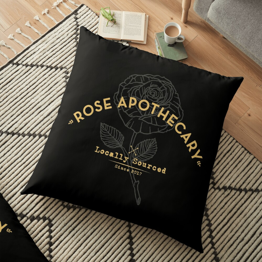 Dark Rose Apothecary Floor Pillow