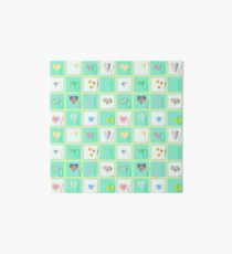 Love Whimsy Squared Seamless Tiles Art Board Print