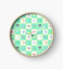 Love Whimsy Squared Seamless Tiles Clock