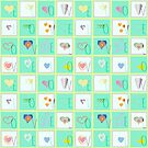 Love Whimsy Squared Seamless Tiles by uniiunMB