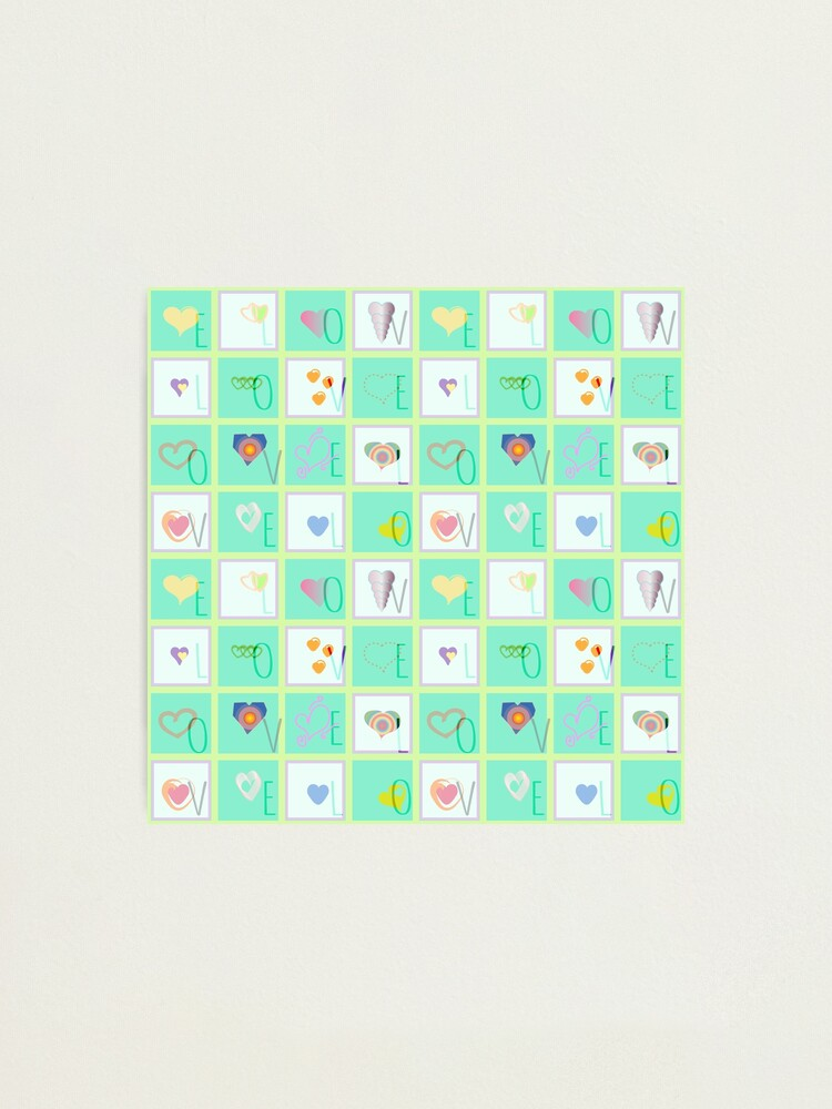 Alternate view of Love Whimsy Squared Seamless Tiles Photographic Print