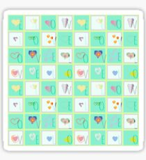 Love Whimsy Squared Seamless Tiles Sticker