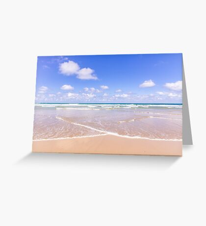 Lapping waves at Watergate Bay, Cornwall, UK Greeting Card