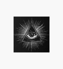 Illuminati Occult Pyramid Sigil Art Board Print