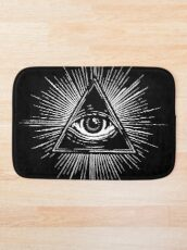 Illuminati Occult Pyramid Sigil Bath Mat