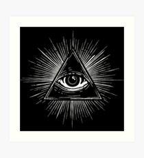 Illuminati Occult Pyramid Sigil Art Print