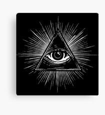 Illuminati Occult Pyramid Sigil Canvas Print