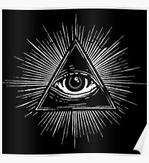 Illuminati Occult Pyramid Sigil Poster
