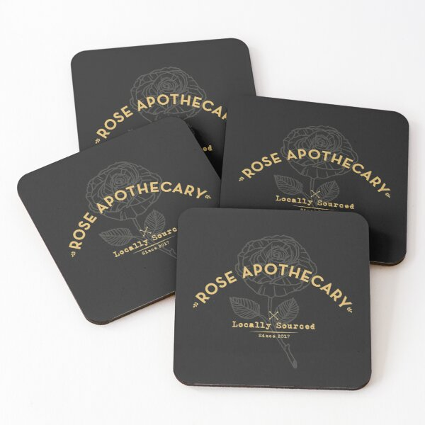 Dark Rose Apothecary Coasters (Set of 4)