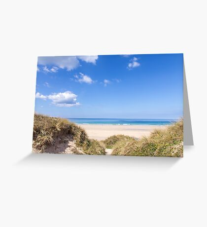 Gwithian Sands beach in Cornwall, UK Greeting Card