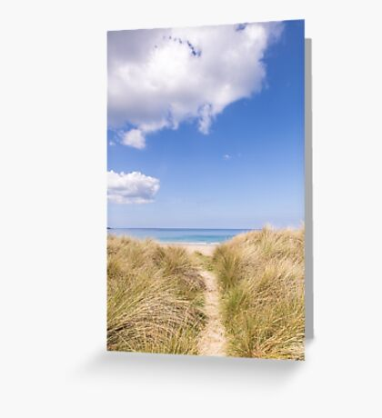 Let's go to the beach :: Gwithian Sands, Cornwall Greeting Card