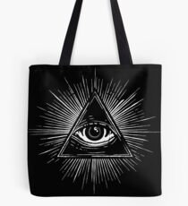 Illuminati Occult Pyramid Sigil Tote Bag
