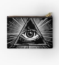 Illuminati Occult Pyramid Sigil Zipper Pouch