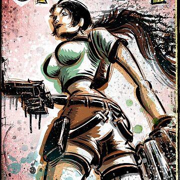 Lara Croft, Tomb Raider, Art, Print, Video Game, Movie, Comic Book, Geekery, Playstation, Illustration,Drawing, Birthday Present, joe badon, nintendo, sega, film, movie by joebadon