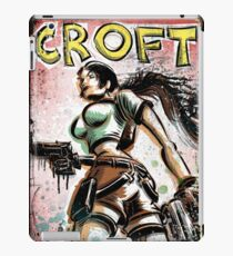 Lara Croft, Tomb Raider, Art, Print, Video Game, Movie, Comic Book, Geekery, Playstation, Illustration,Drawing, Birthday Present, joe badon, nintendo, sega, film, movie iPad Case/Skin