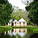 Pond and an old English House by autumnleaf