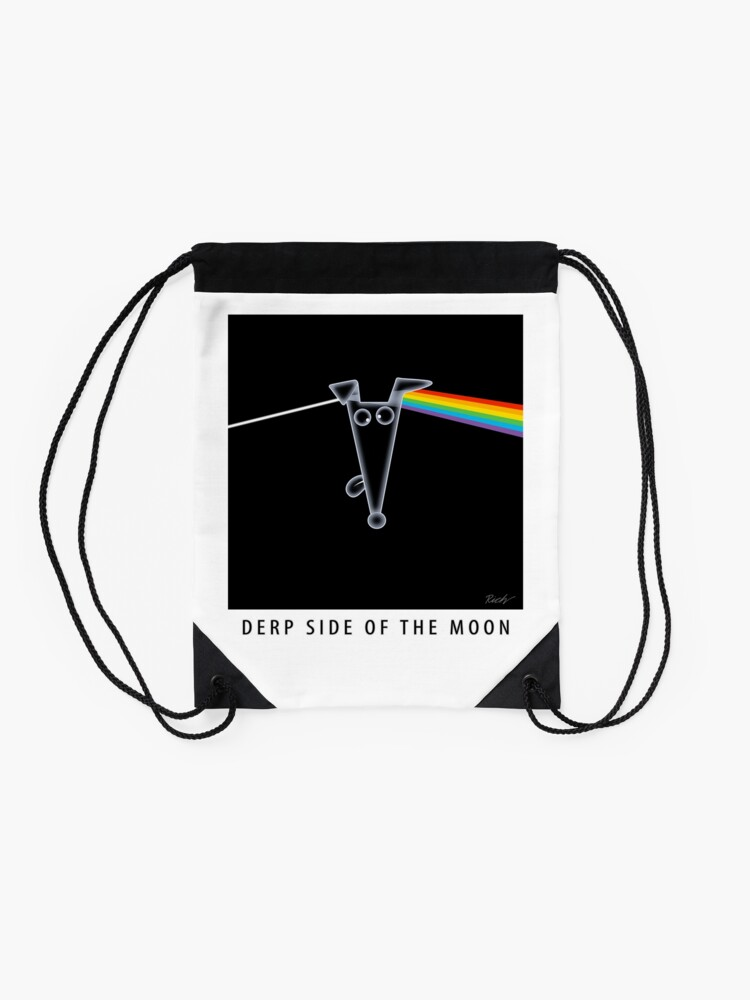 Alternate view of Derp Side of the Moon Drawstring Bag