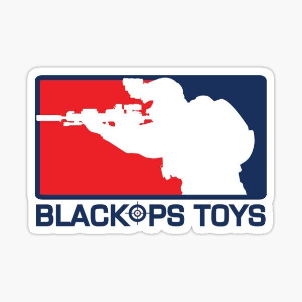 Red White and Blue BlackOpsToys Logo Sticker