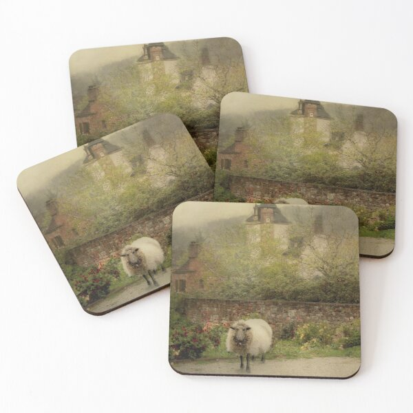 Sheep In The Old Village Coasters (Set of 4)