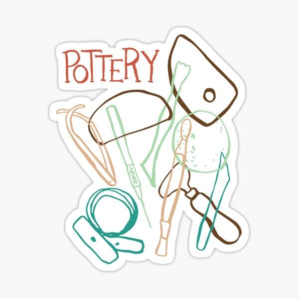 Pottery Making Tools T Shirt Sticker