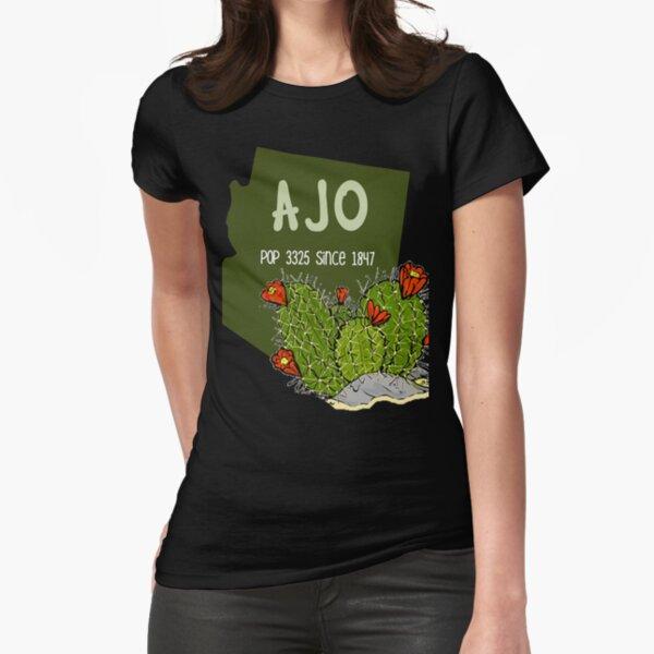 Ajo Arizona Trendy Print  Fitted T-Shirt