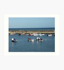 Tranquil harbour scene Art Print
