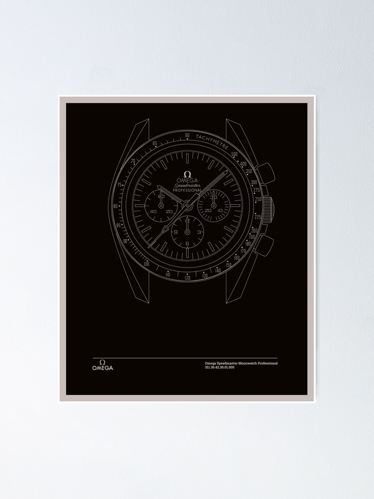Alternate view of Omega Speedmaster First Watch Worn on the Moon Poster