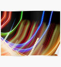 Coloured Curves Poster