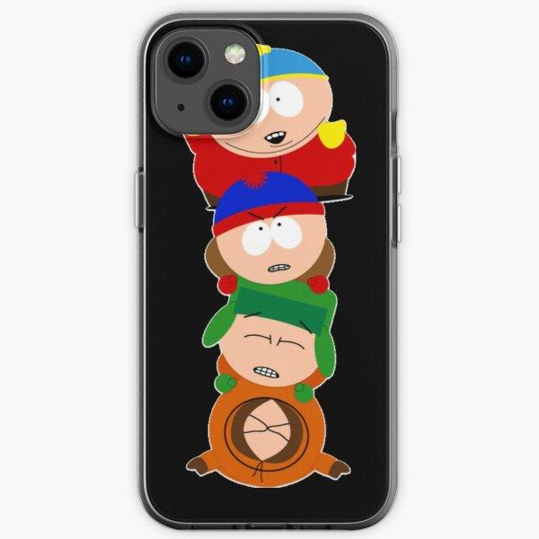 South park - Eric Cartman, Kyle Broflovski, Stan Marsh et Kenny McCormick - Prenez le pill-up Coque souple iPhone