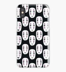 Spirited Away Inspired Noface Pattern iPhone Case