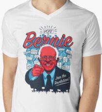 Bernie Sanders Revolution Men's V-Neck T-Shirt