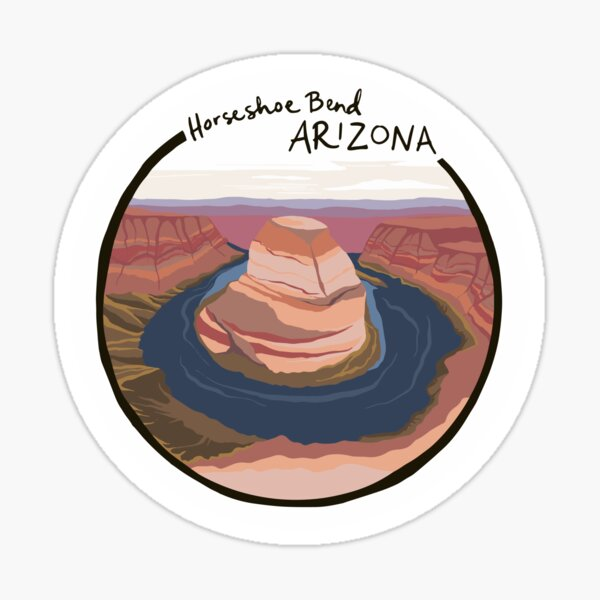 Horseshoe Bend, AZ Sticker