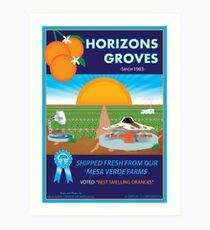 Horizons Groves Art Print