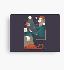 The Typing Man Canvas Print