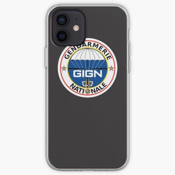 GIGN National Gendarmerie Intervention Group Logo Coque souple iPhone