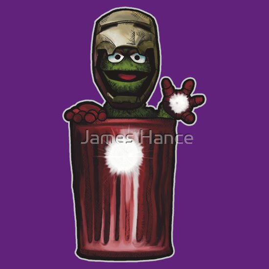 TShirtGifter presents: Iron Can (Oscar The Grouch / Iron Man)