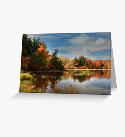 Autumn Reflections ~ Lake Jean Greeting Card