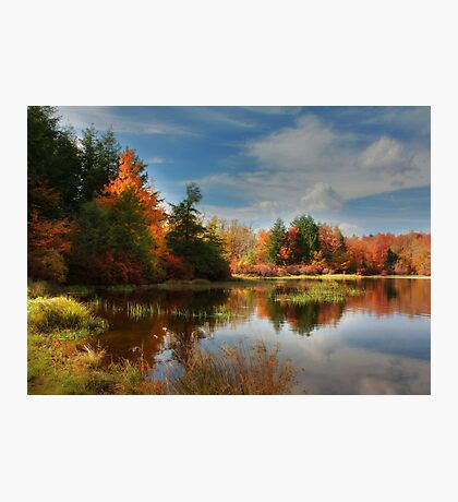Autumn Reflections ~ Lake Jean Photographic Print